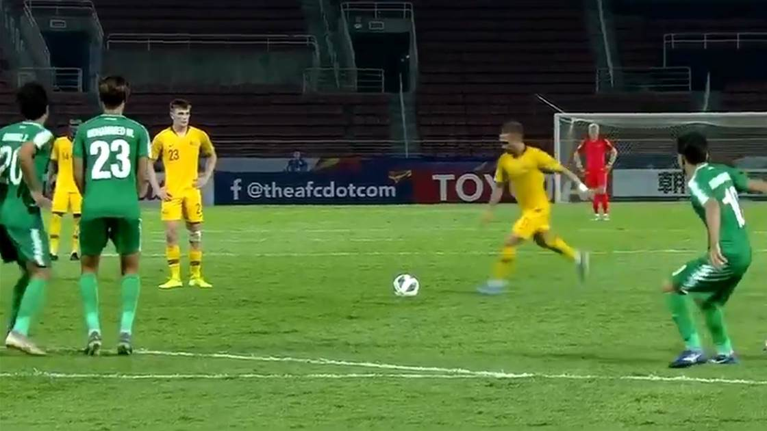 Watch! Reno Piscopo lands stunner in Olyroos draw