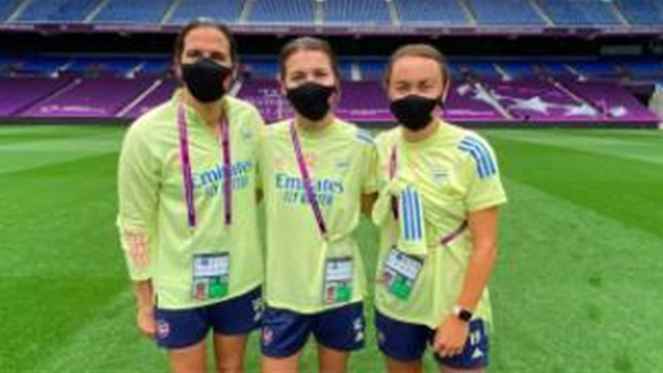 Arsenal's Matildas trio 'daunted' by Champions League