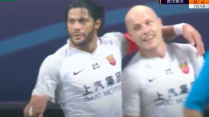 'Never thought I'd see Hulk hugging Mooy': Socceroo scores chip on Shanghai debut