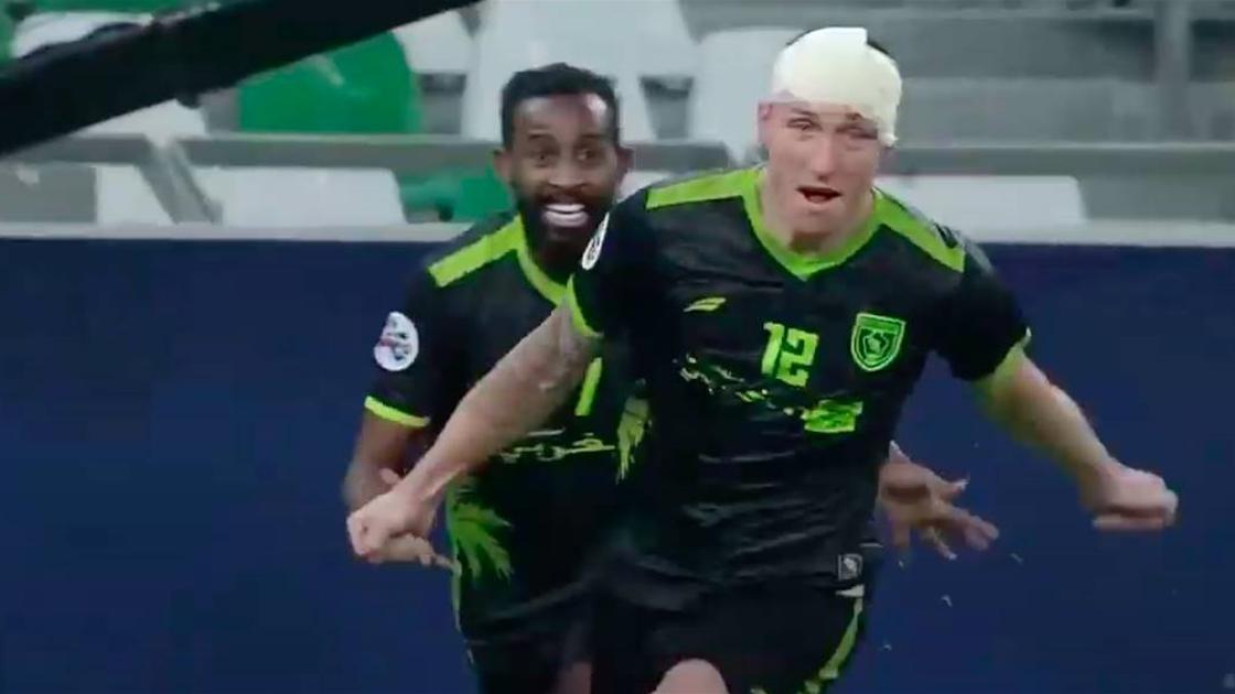 Socceroos striker scores cracking Champions League header