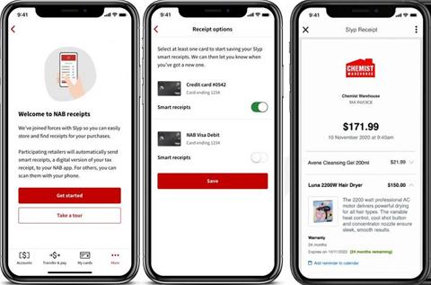 NAB launches digital receipts with Slyp