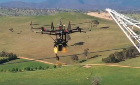 TransGrid deploys drones to perform power line work