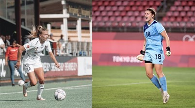Two young Matildas become champions of Sweden