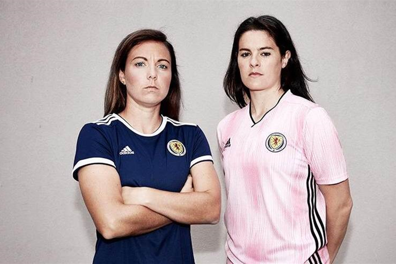 Scotland celebrate first Women's World Cup with first women's kits