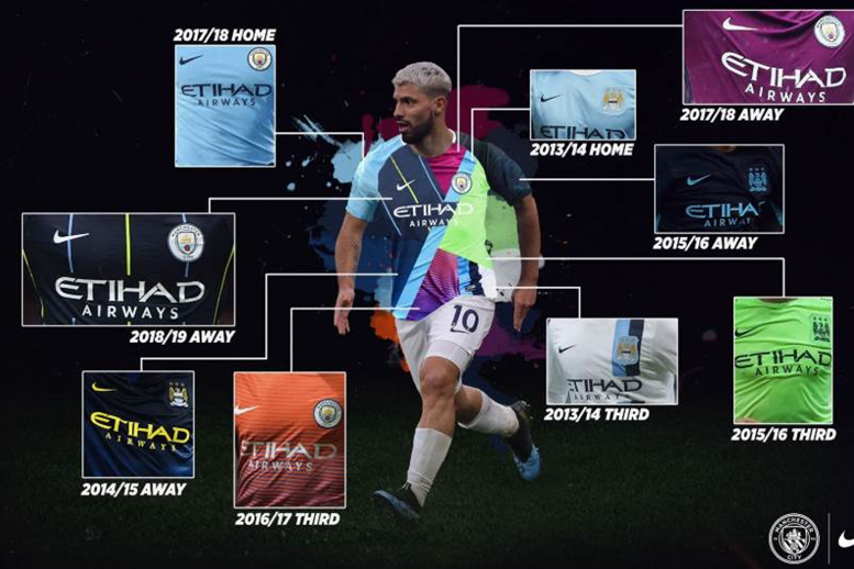 Manchester City unveil impressive Nike six-year mashup jersey