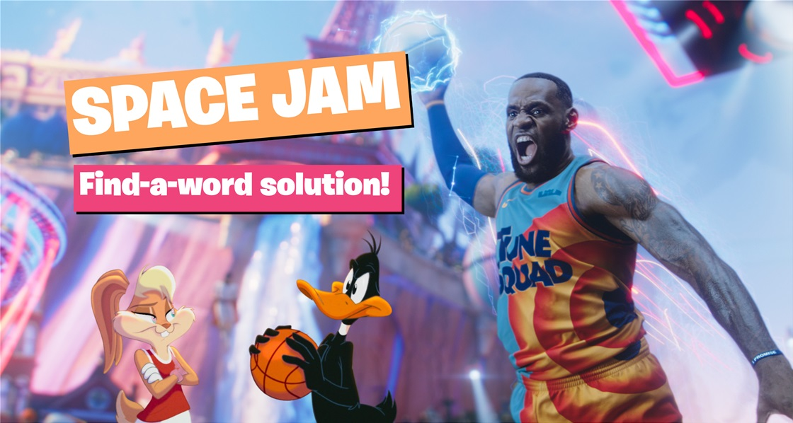 Space Jam: Find-a-word solution! (SPOILER: Answer revealed!)