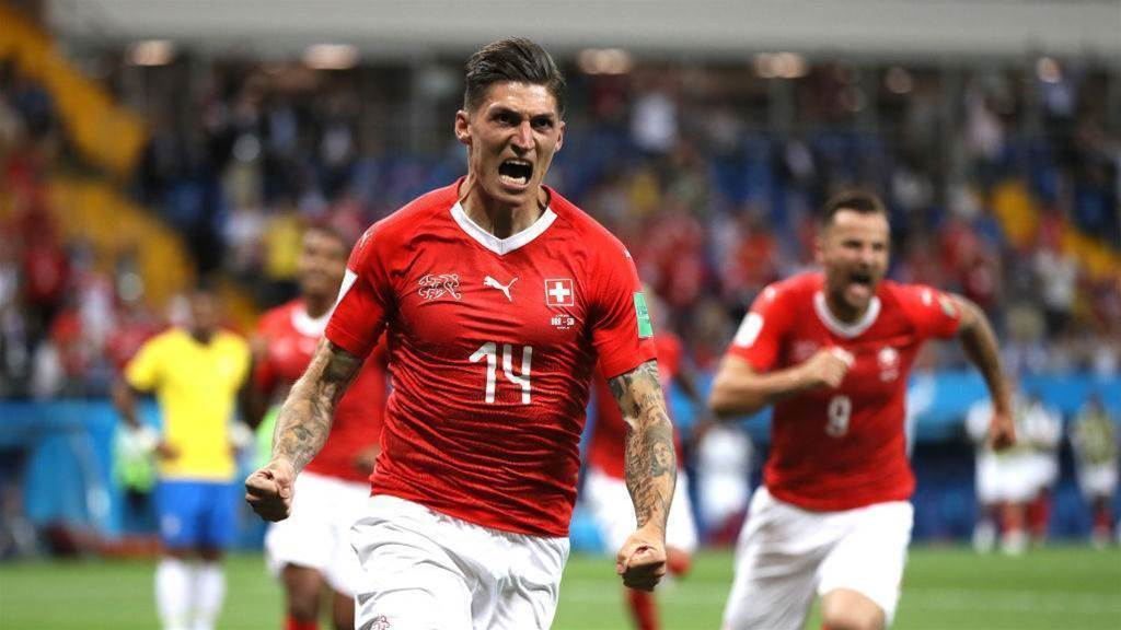 Switzerland hold Brazil to 1-1 draw