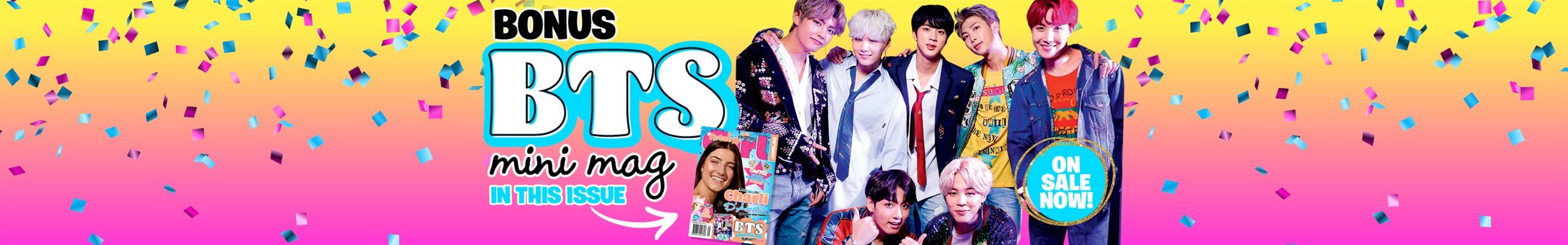 Bonus BTS mini mag with the May issue of Total Girl!
