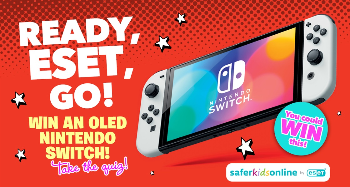 WIN an OLED Nintendo Switch with ESET!