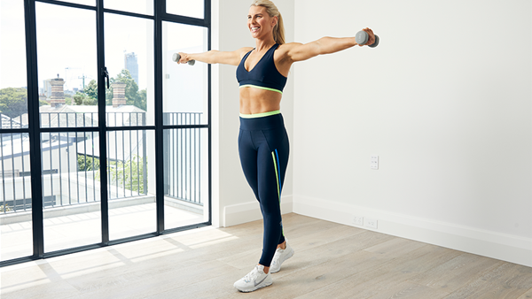 Tone your arms and shoulders with this simple move from Tiff Hall!