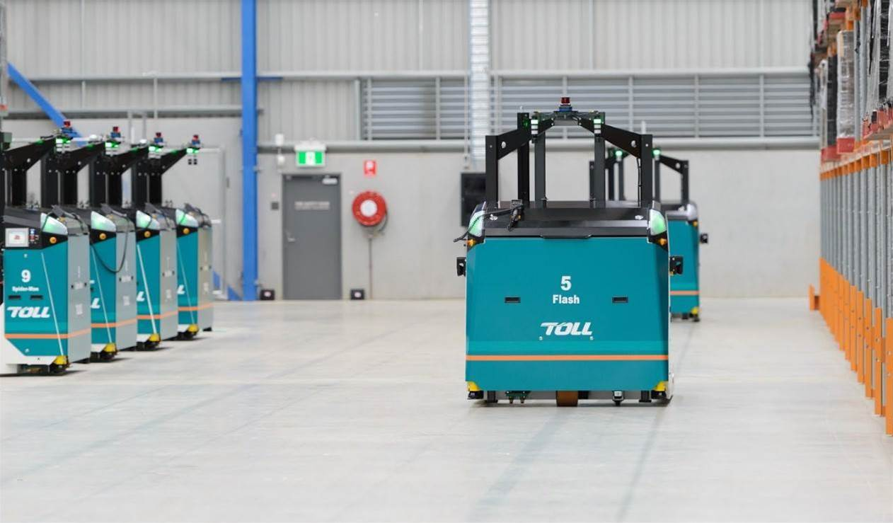 Toll deploys driverless forklifts to shift pallets