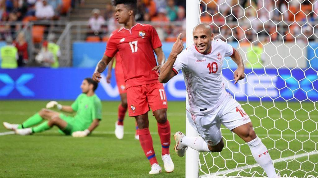 Tunisia beat Panama 2-1 to finish third in Group G