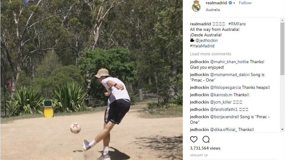 Aussie teen goes viral with Real Madrid