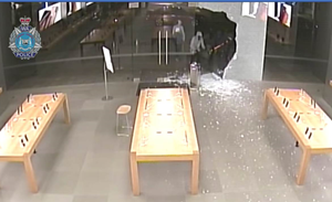 Perth Apple stores smashed in $300k device theft