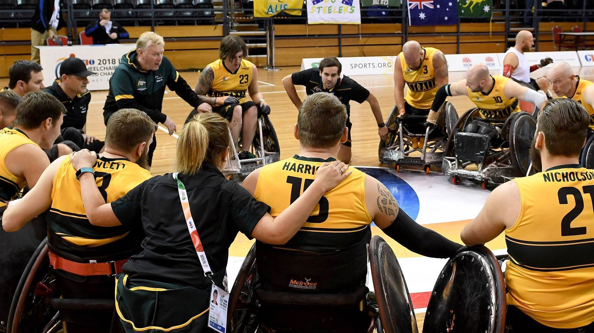 Graham makes history in wheelchair rugby