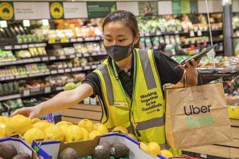 Woolworths partners with Uber Eats for same hour delivery