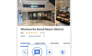 Woolworths identifies stores with stock in chats initiated from Google Search, Maps