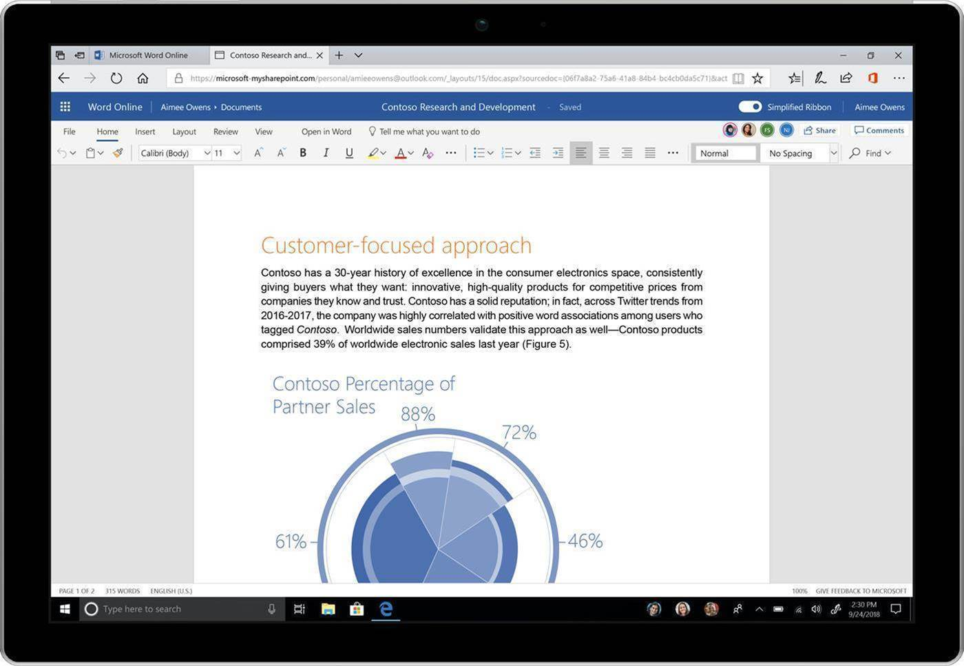 Microsoft revamps Office 365 with new look, ribbon and AI search