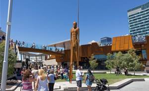 Attackers take over Perth's Yagan Square touchscreens