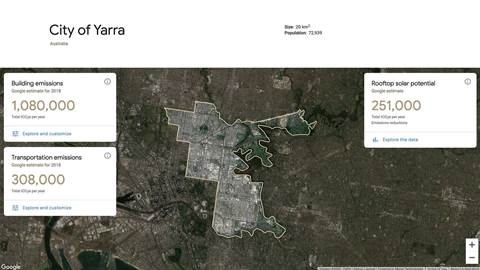Google expands emissions planning tool to over 100 Australian council areas