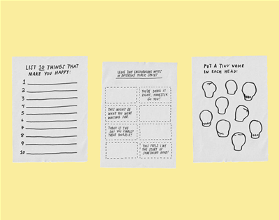 not into journaling? download adam jk's free activity sheets