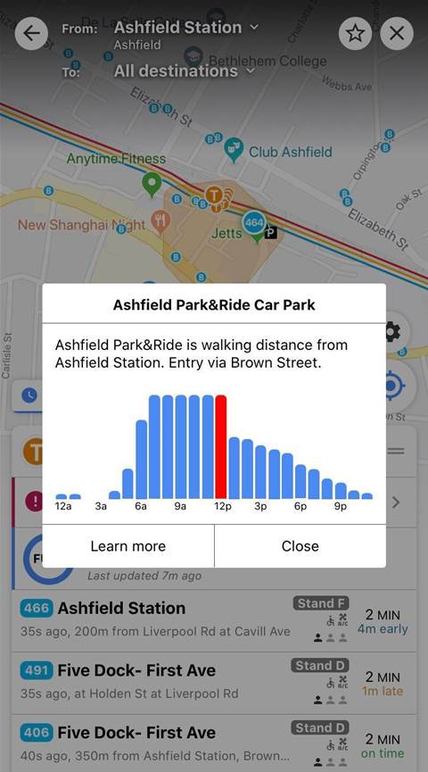 Free Opal car parks now show availability in real-time