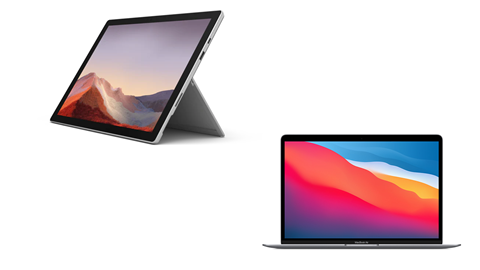 Apple MacBook Air (M1) vs. Microsoft Surface Pro 7+