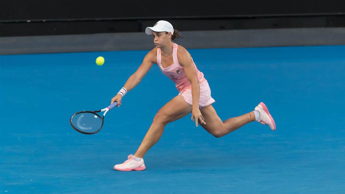 Barty cruises into second round