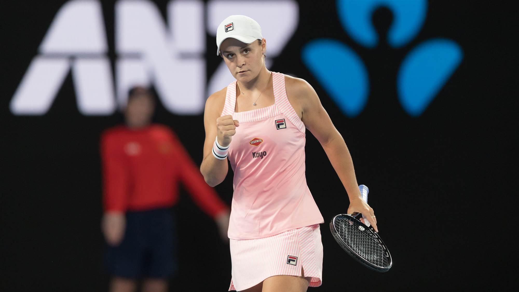 Barty to face Kvitova in Miami quarters