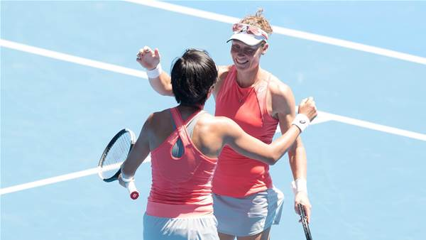 Stosur through to doubles semis