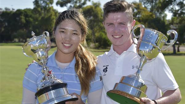 AUS AMATEUR: Men's and women's titles headed overseas