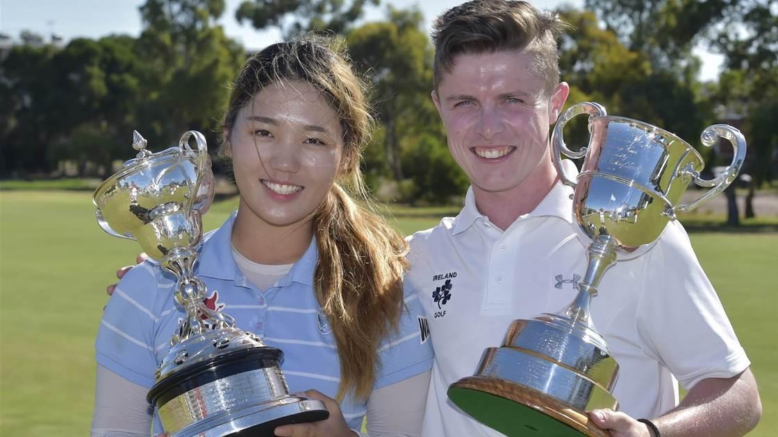 AUS AMATEUR: Men's and women's titles headed overseas