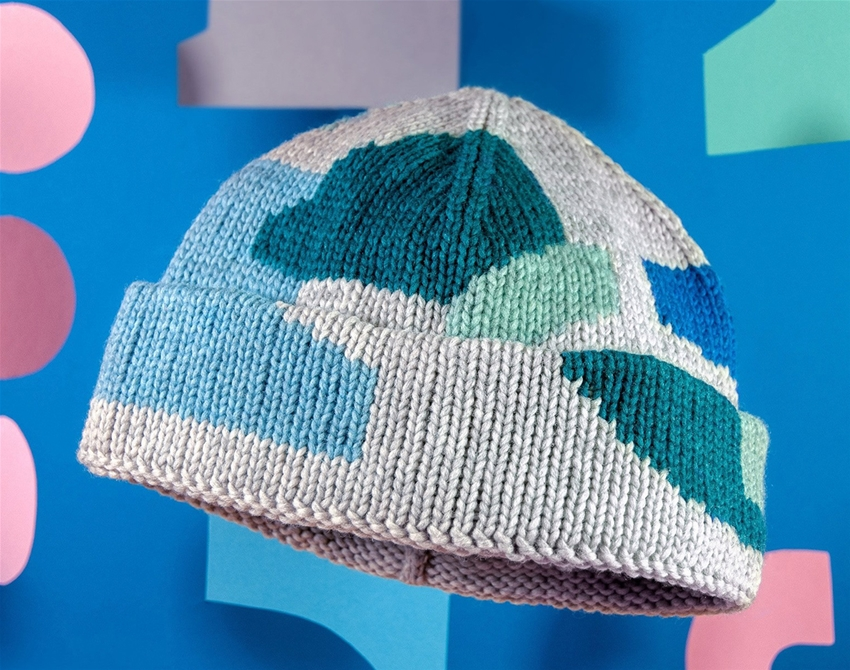 check out this hand-dyed woollen beanie