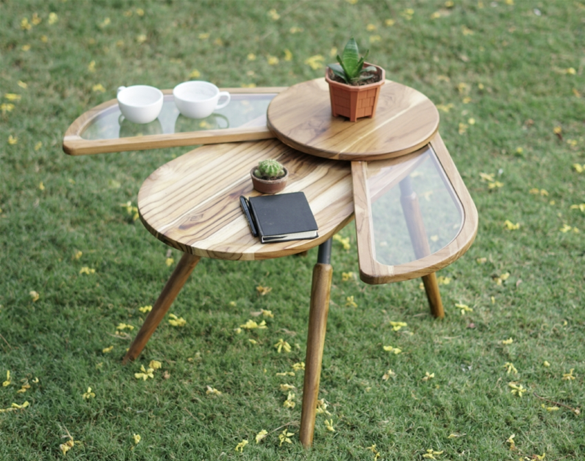 a bug-inspired coffee table