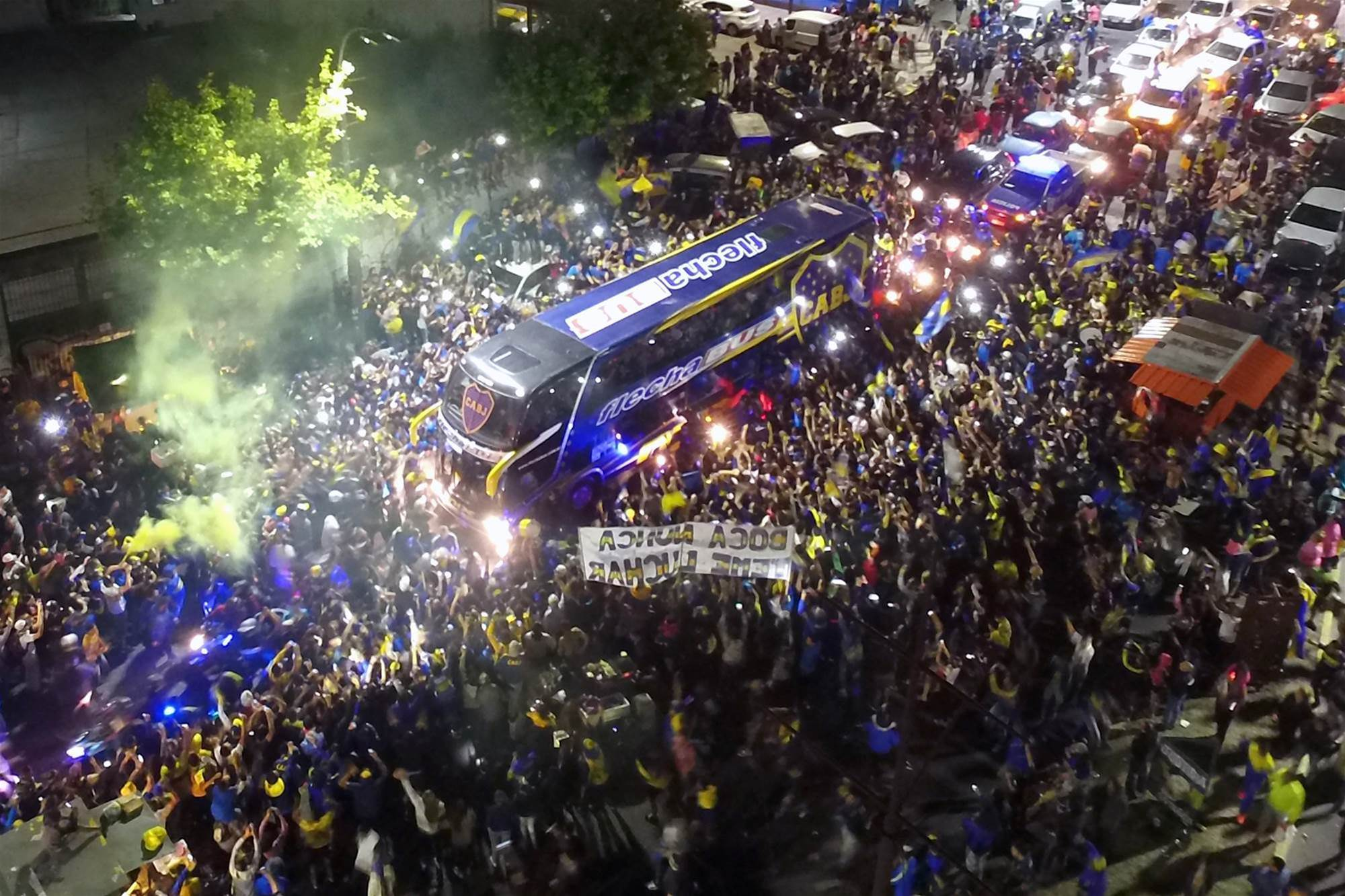 Watch! Boca fans send their team off to Spain in style