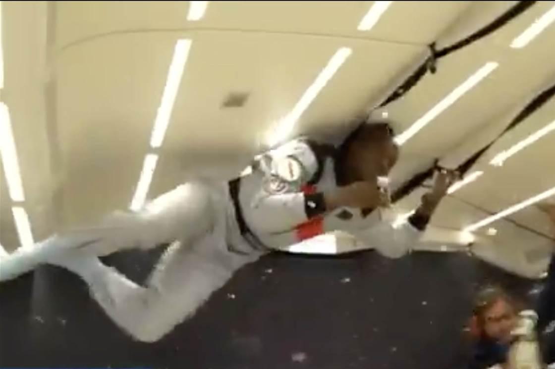 Watch! Usain Bolt's zero G bubbly