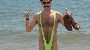 Borat Has Been Hangin' at the Surf Shop in Oz