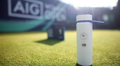 AIG Women's Open eliminate single-use plastic water bottles