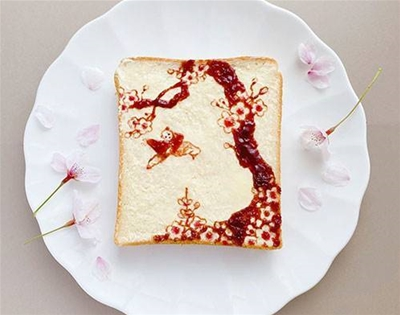 what's better than sliced bread? manami sasaki's toast art