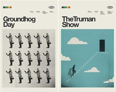 concepción  studios designs retro posters for modern movies