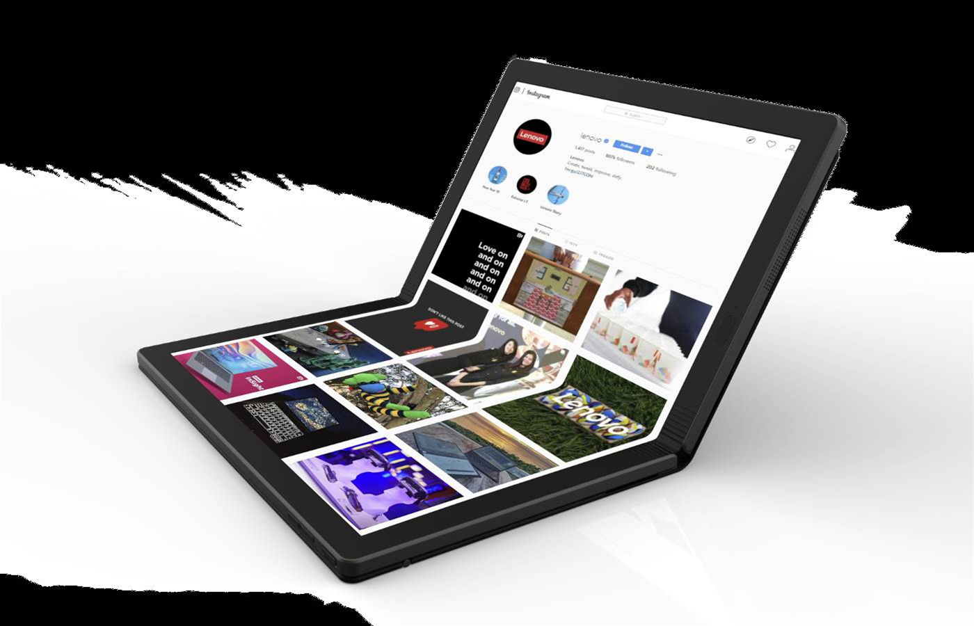 Lenovo unveils ThinkPad with foldable screen