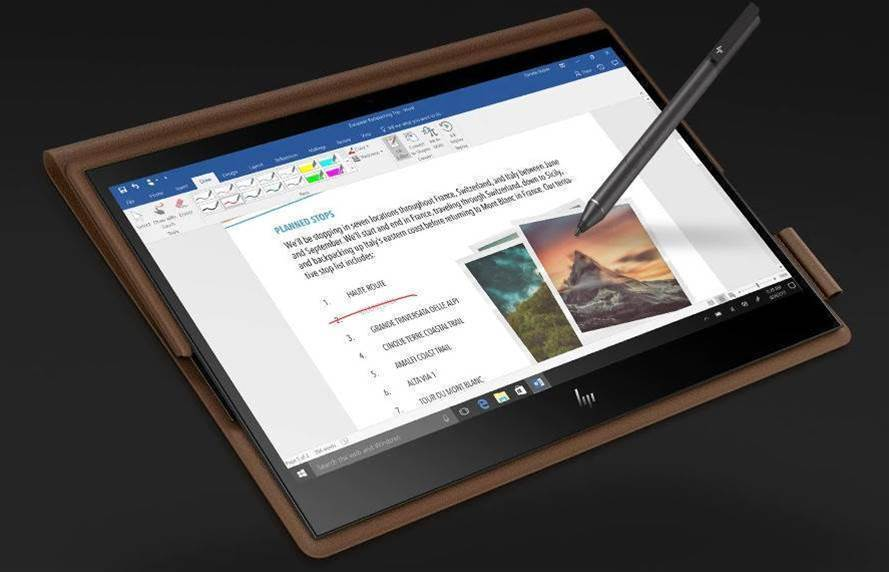 HP unveils first leather laptop