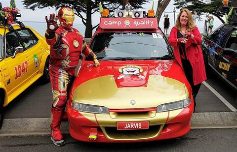 Canberra-based OPC IT's boss Brett Norton suits up as Iron Man for charity