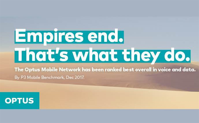 Court sides with Optus over Telstra, lifts injunction on 'Empires End' advertisements