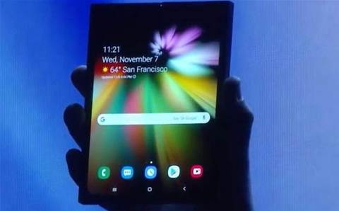 Samsung finally gives a sneak peak at its foldable phone