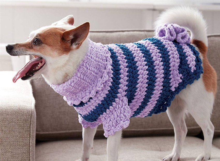 these crochet dog jumper patterns are just too cute