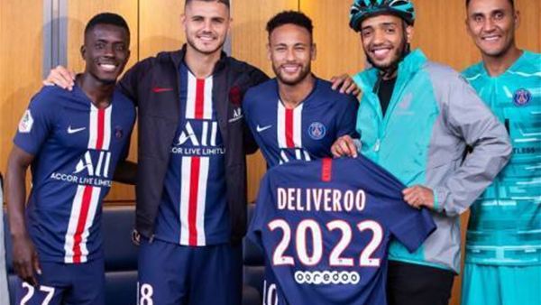 Food delivered to your seat: PSG partners with Deliveroo