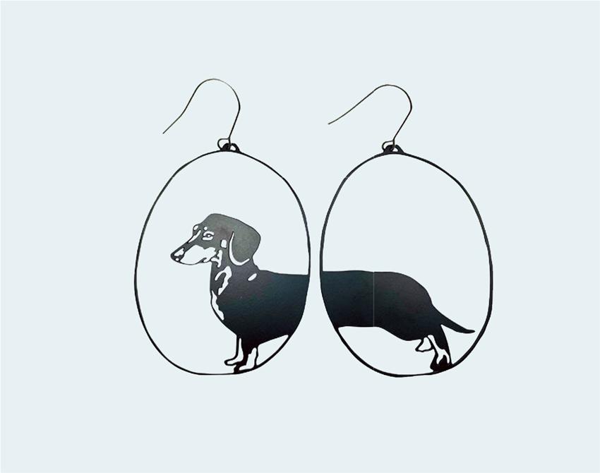 denz + co dachshund earrings