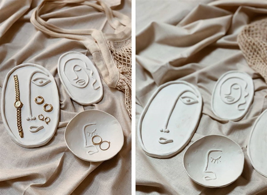diy clay face plates