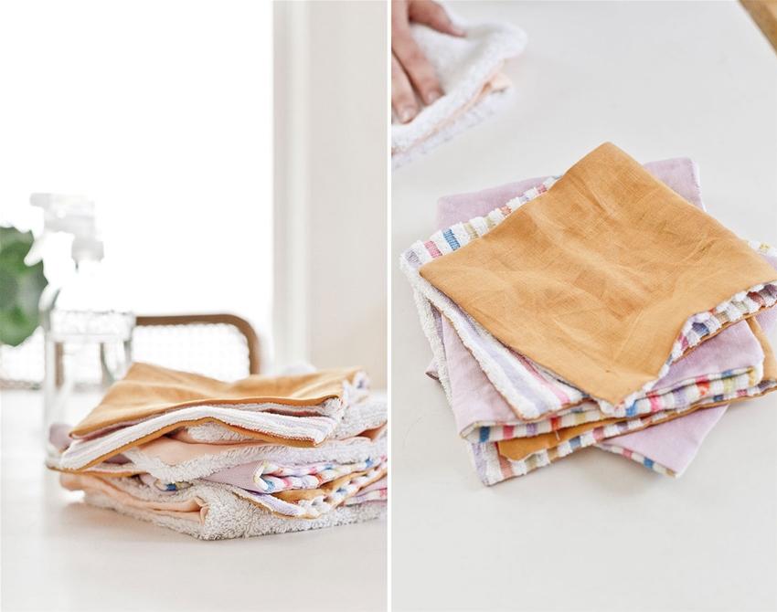 diy reusable paper towels